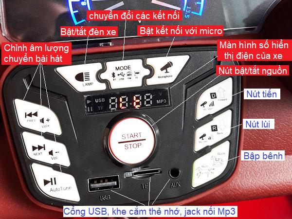 Bảng điều khiển xe ô tô điện trẻ em Kupai 2020