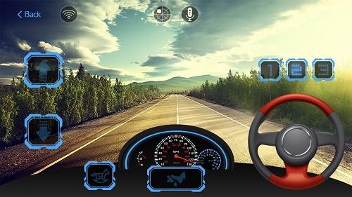 Màn hình điều khiển xe ô tô điện trẻ em trên điện thoại Iphone