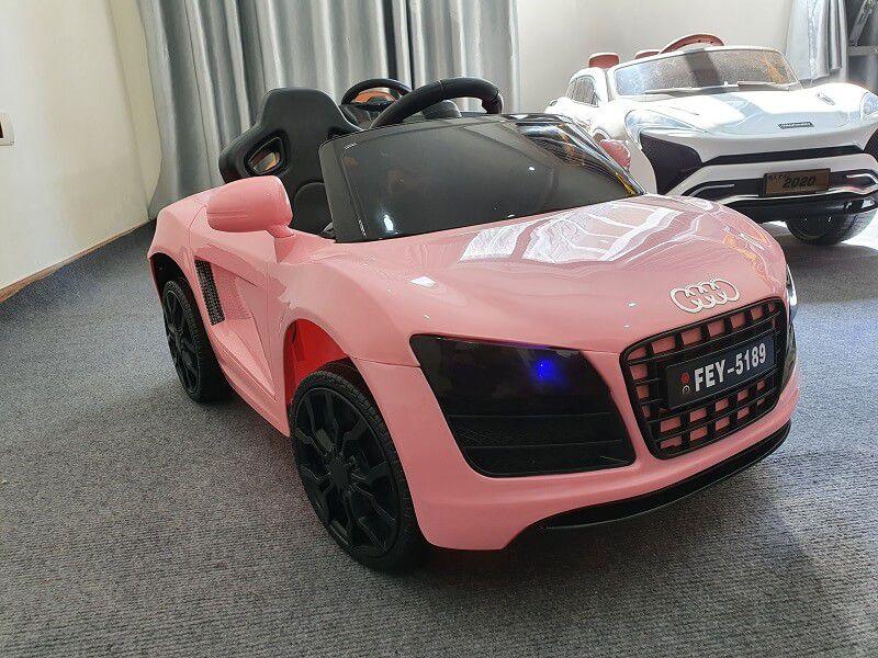 Xe ô tô điện trẻ em FEY 5189 màu hồng