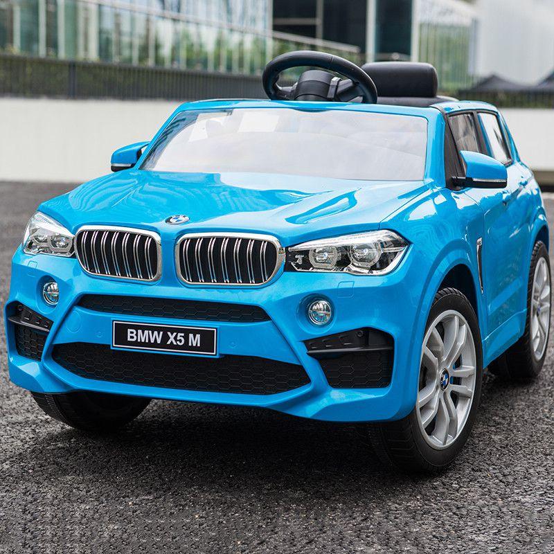 Xe ô tô điện trẻ em BMW X5M 6661R - chính hãng phê duyệt bản quyền từ hãng BMW màu xanh