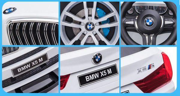 Các chi tiết xe BMW X5M 6661R thiết kế tinh tế, tỉ mỉ từng chi tiết, tạo nên 1 sản phẩm chất lượng cho bé