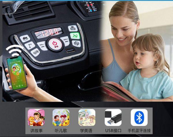 Các tính năng giải trí trên xe ô tô điện trẻ em BMW X5M 6661R