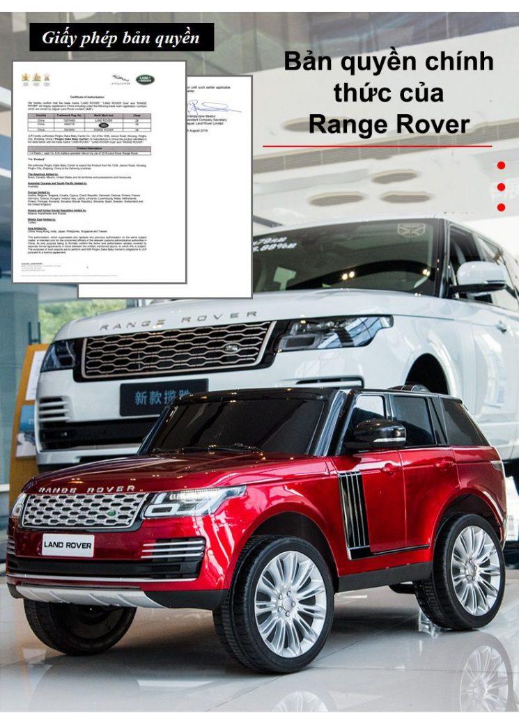 Bản quyền xe chính hãng được phê duyệt bởi land rover