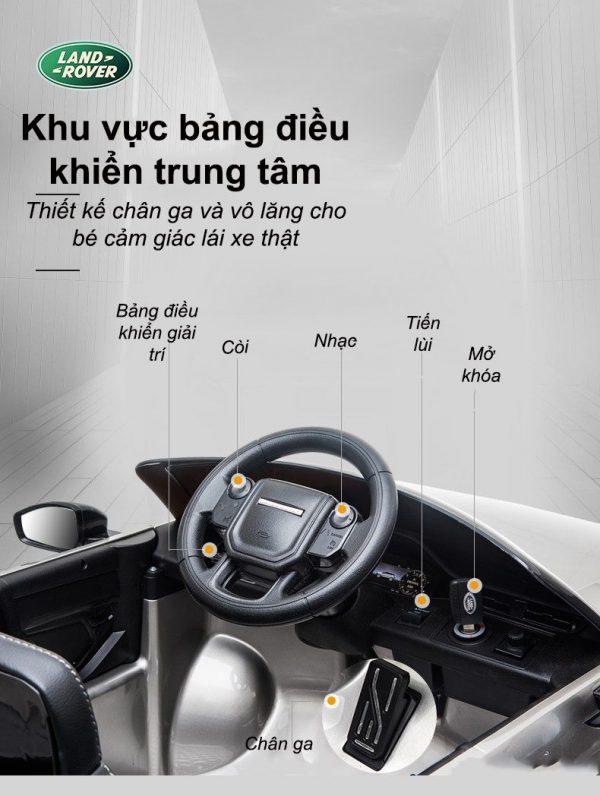 Bảng điều khiển trung tâm xe ô tô điện trẻ em Range Rover cho bé