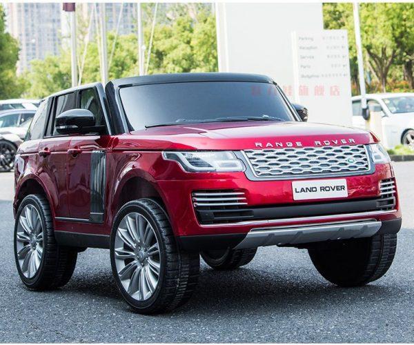 Phần đầu xe ô tô điện trẻ em Range Rover màu đỏ
