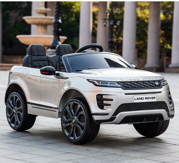 Xe ô tô điện cho bé Land Rover màu Xám Bạc