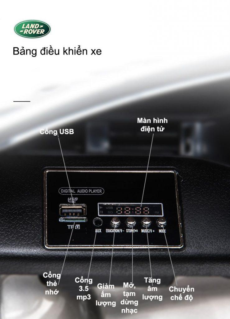 bảng điều khiển xe ô tô điện trẻ em range rover