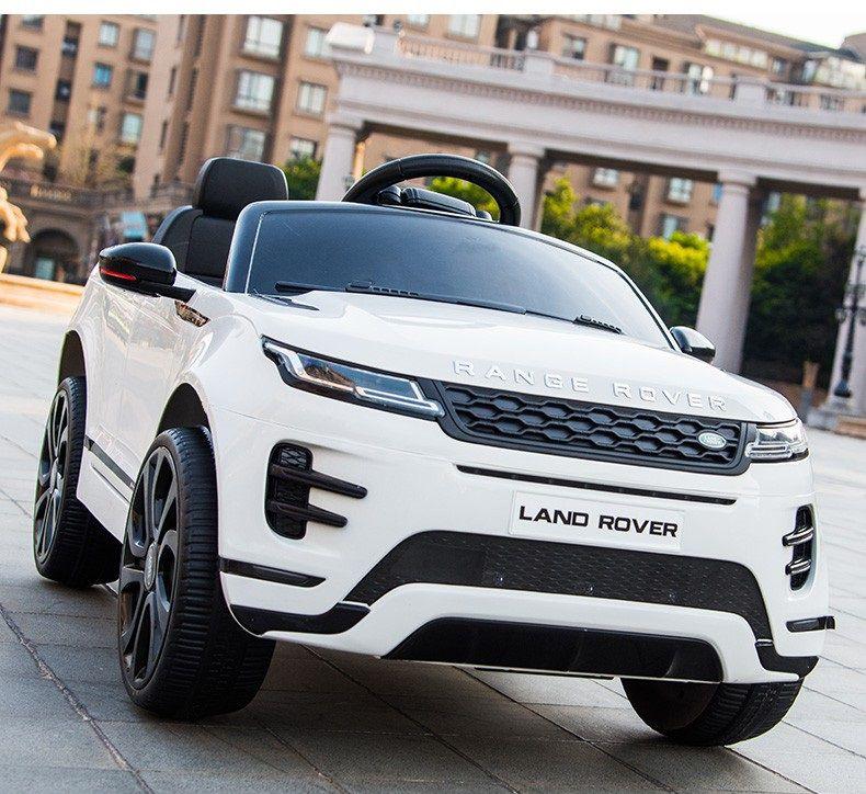 Xe ô tô điện trẻ em Land Rover màu trắng
