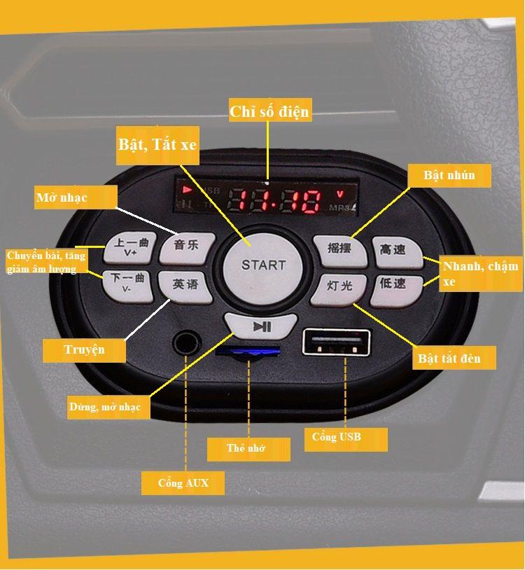 Bảng điều khiển xe ô tô điện trẻ em Lamborghini Nel 603