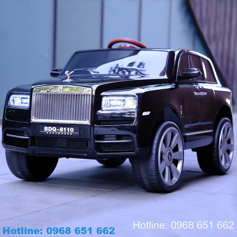 Xe ô tô điện trẻ em Rolls Royce BDQ 8110 màu đen quý phái