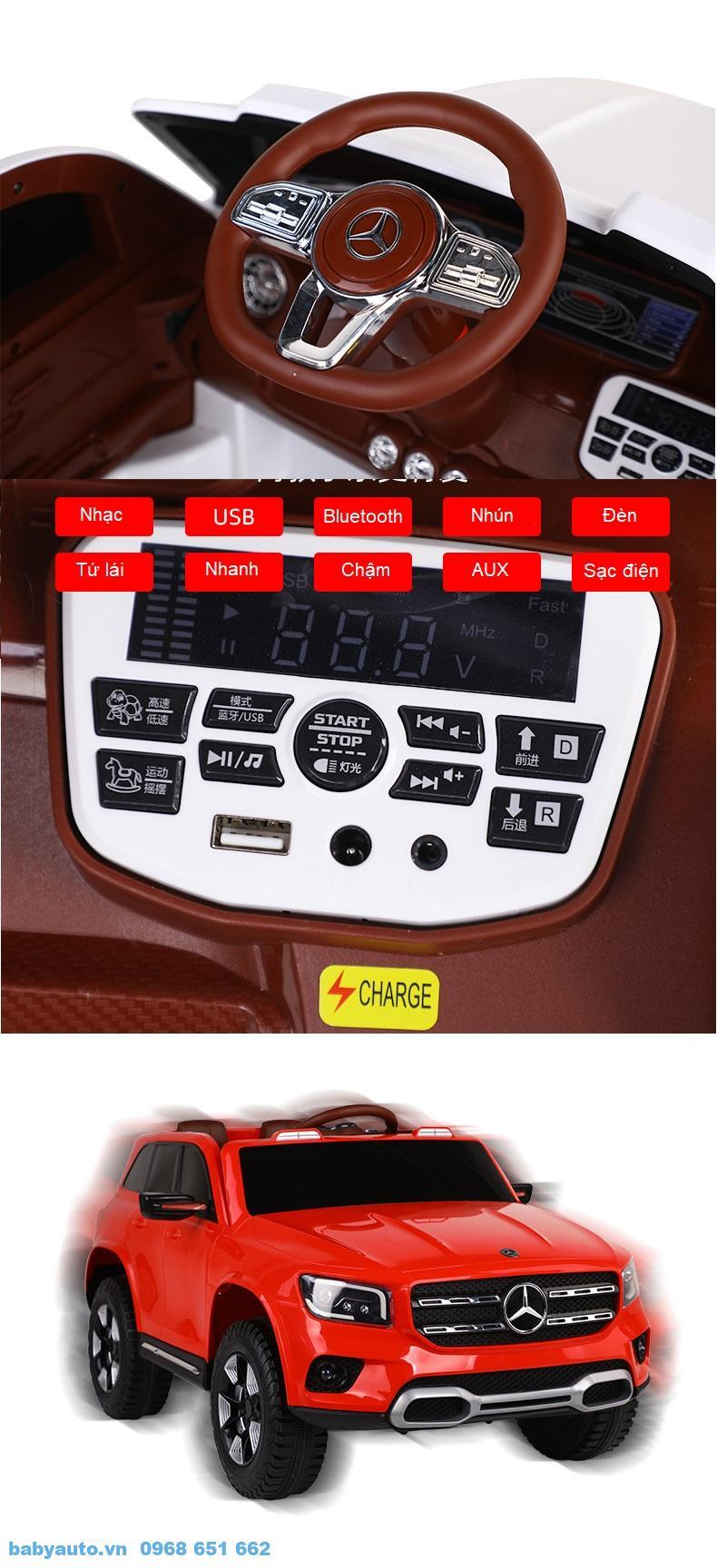 Bảng điều khiển các tiện ích trên xe như nhạc, chế độ di chuyển, chuyển các chế độ điều khiển, kết nối