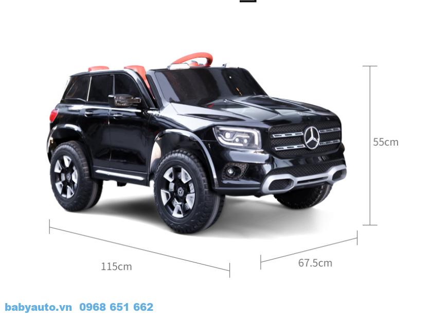Kích thước xe ô tô điện trẻ em Mercedes GLB BDQ 1201