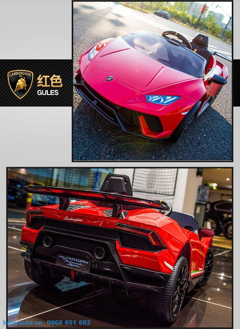 Xe ô tô điện trẻ em Lamborghini S308 màu Đỏ